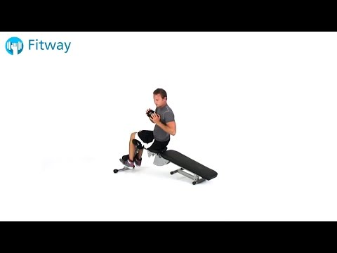 How To Do: Dumbbell Situp - Decline Bench Oblique | Ab Workout Exercise