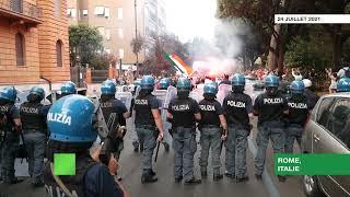 Italie : manifestation à Rome contre le pass sanitaire