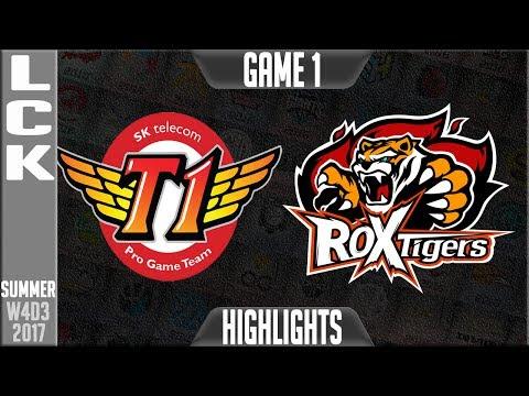 SKT T1 vs ROX Tigers Highlights Game 1 | LCK Week 4 Day 3 Summer 2017 | SKT vs ROX G1
