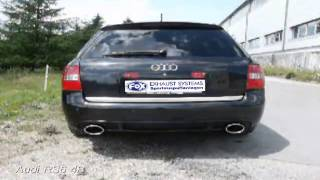 Video: FOX Komplettanlage ab Kat für Audi RS6 4B