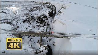 Kolugil Canyon In Iceland, 4K DJI Phantom Drone