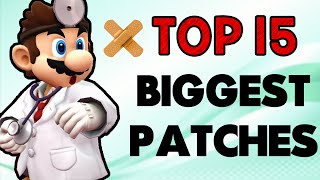 Top 15 Biggest Patches! (Smash Wii U/3DS)