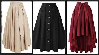 Most Elegant & Stylish High Waisted Flared & Plaid Long Maxi Skirts Ideas