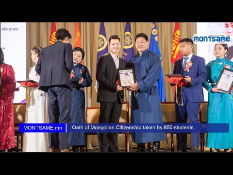 Oath of Mongolian Citizenship taken by 850 students