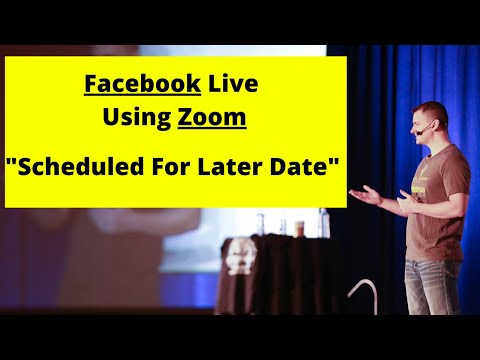 How To Schedule a Facebook Live With Zoom (Live Streaming Later Date) | Mike Hobbs