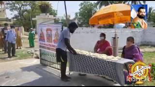 Covid 19 - Vizianagaram Vikasa Tarangini distributing satvik meals to the needy people