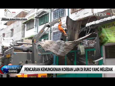 Ledakan Gas di Medan Rusak 4 Bangunan Ruko