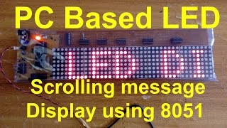 LED Scrolling message Display using 8051 | how to make moving message display