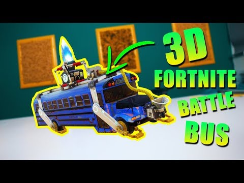 Vyrobil som 3D FORTNITE BATTLEBUS!