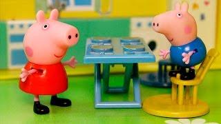 Видео про игрушки свинка Пеппа - на диете. Новые игрушечные мультики для детей