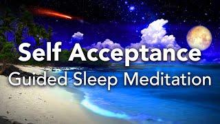 Geführte Schlafmeditation, Selbstakzeptanz, Selbstliebe und Selbstachtung. (Gesprochene Meditation)