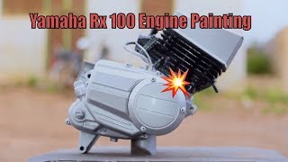 Yamaha RX 100   Motorcycle Engine Painting