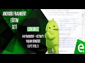 4 Fragment+Activity Yaşam Döngüsü | Android Fragment Eğitim Seti