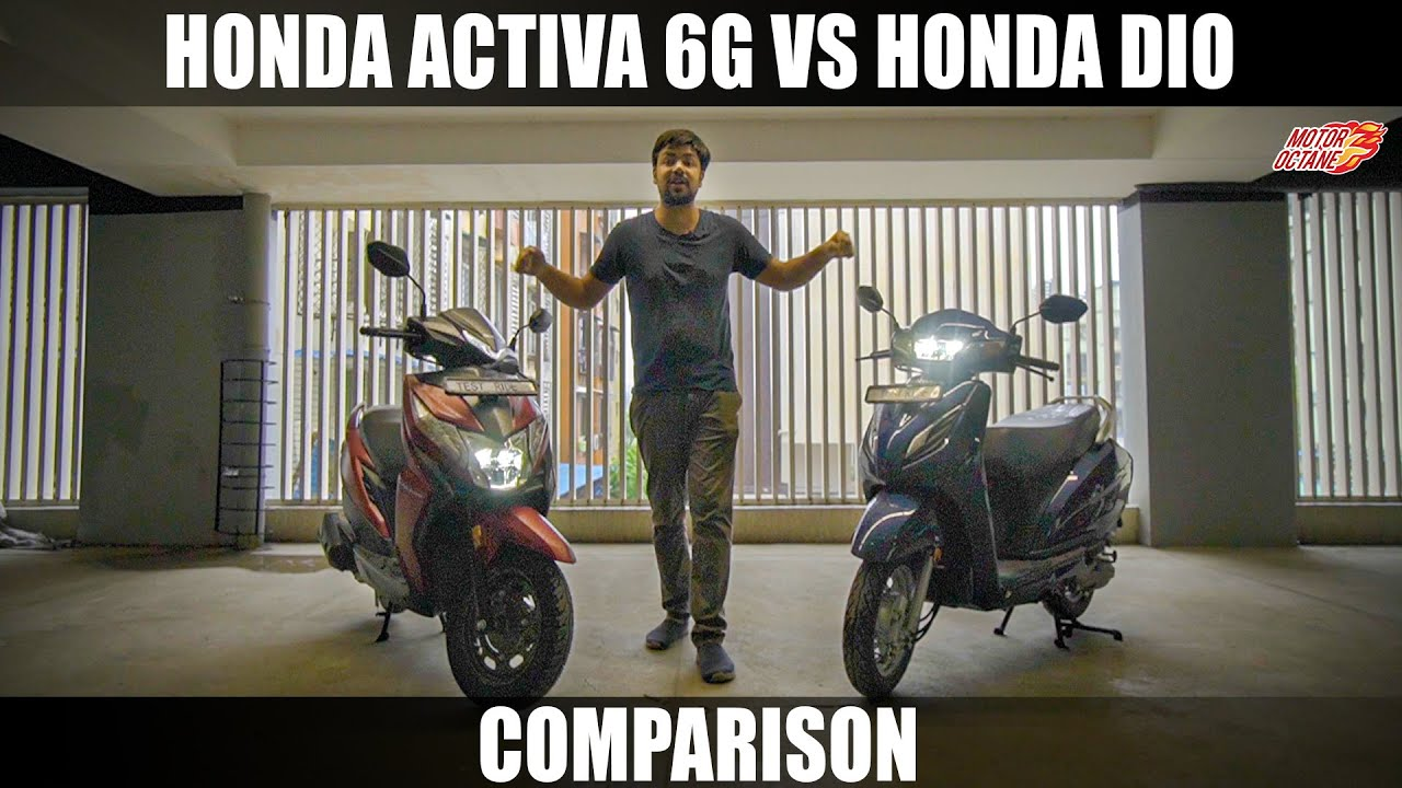 Motoroctane Youtube Video - Honda Activa 6G vs Honda Dio 2020 Comparison | Hindi | MotorOctane