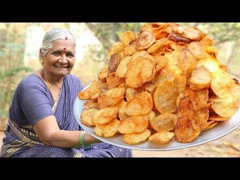 Crispy Thin Potato Chips || Potato Wafers || Quick and Easy Aloo Chips Recipe || Myna Street food