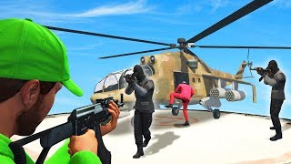 STEAL THE $5,495,000 ARMY HELICOPTER! (GTA 5 Heists)