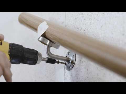 Wandmontage Handlauf mit Haltern zum Einschrauben