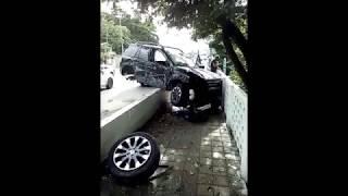 Range Rover взлетел над стадионом в Сочи