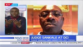 Judge Sankale presents himself at DCI headquarters after he was released on police bond on Saturday