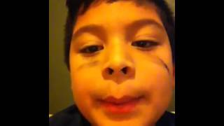 Mexican kid rapping