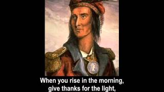 Indian Song (Tecumseh) | War of 1812