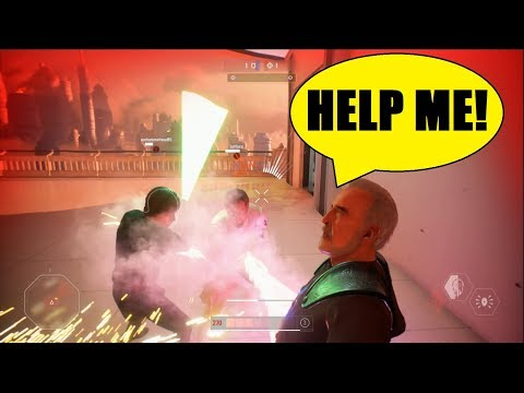 Star Wars Battlefront 2 - Count Dooku to the rescue! Oh wait, teammates saved him XD