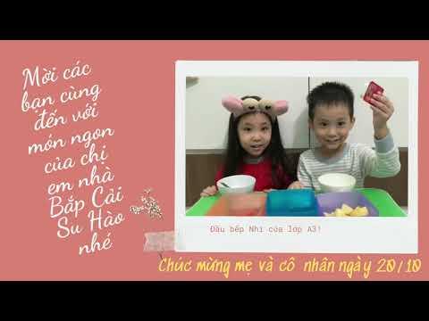 Hướng dẫn trẻ làm hoa quả dầm - MGL A3-  MN Hoa Hồng - Hoàng Mai