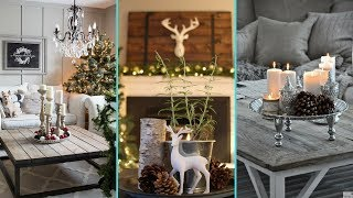 ❤DIY Shabby Chic Style Christmas Coffee Table Decor Ideas | Christmas Home Decor ❤ | Flamingo Mango|