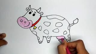 Cara Menggambar Hewan Sapi Dengan Mudah ฟรวดโอออนไลน ดทว