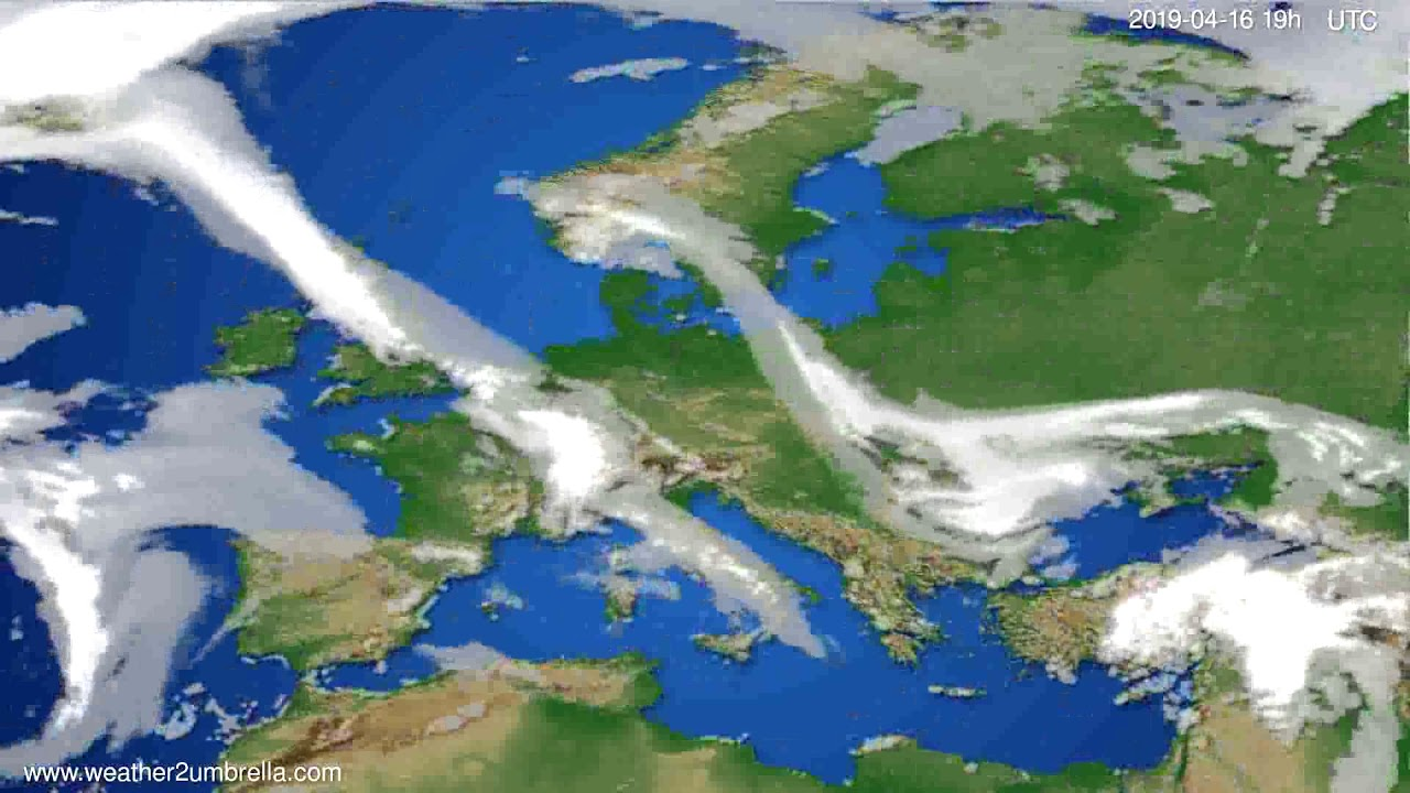 Cloud forecast Europe // modelrun: 12h UTC 2019-04-13