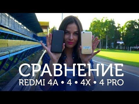 Сравнение Xiaomi Redmi 4A, Redmi 4, Redmi 4X и Redmi 4 Pro от Румиком