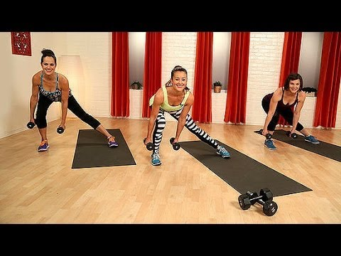 10-Minute Body Toning Workout With Weights | Class FitSugar ...