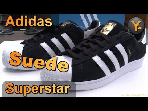 Adidas Superstar S75143 Suede Black / Adidas Originals Black-White-Gold