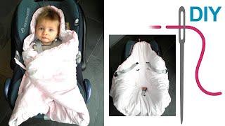 Maxi Cosy Decke, Decke für Babyschale selber nähen,