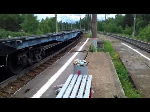 ВЛ10-1728 с грузовым поездом на платформе 142 км БМО ЖД.