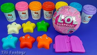 Learn Colors and Making 3 Ice Cream out of Play Doh | Surprise Toys LOL Surprise Eggs