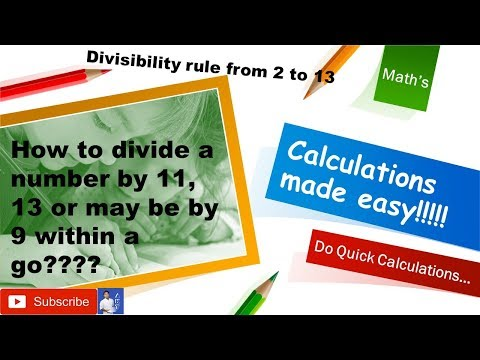Math's Tricks : Divisibility rule: Calculation made easy