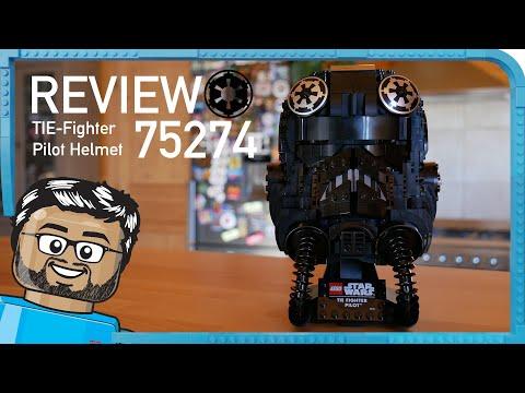 Vidéo LEGO Star Wars 75274 : Le casque de pilote de TIE-Fighter