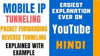 Tunneling in Mobile IP ll Packet Forwarding and Reverse Tunneling Explained with Examples in Hindi