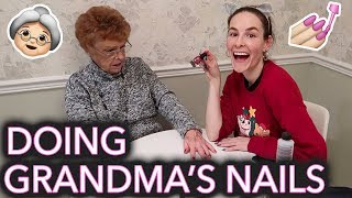 Painting My Grandma's Nails (she thinks we're on National Television)