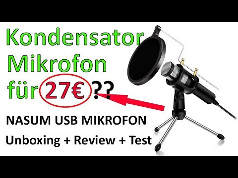 Kondensator Mikrofon UNTER 30€ ?! NASUM USB PC Mikrofon Review [German]