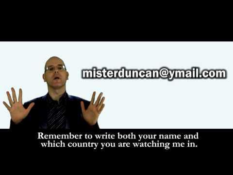 ASK MISTERDUNCAN -- E-MAIL ADDRESS