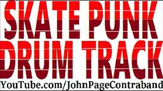 Pop Skate Punk Rock Drum Backing Track DRUMS ONLY Free