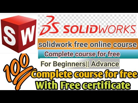 Solidwork course for free online with certificate, free online solidwork ...