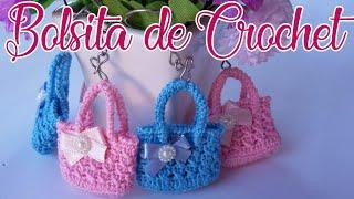 Mini Bolsita Llavero En Crochet Paso A Paso