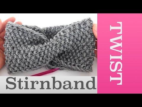 Twist Stirnband stricken im Perlmuster   Für Anfänger geeignet