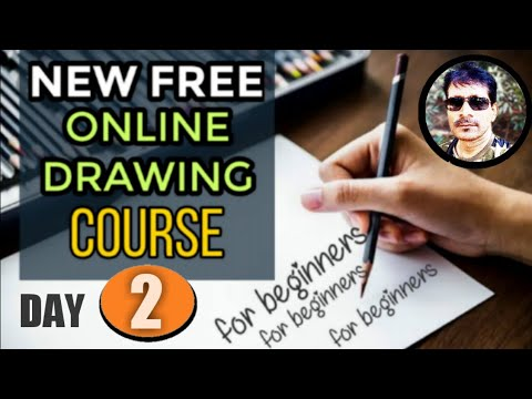 On line free drawing course in day 2 | Hindi online drawing classes ...