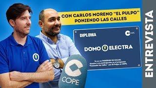 CON CARLOS MORENO PONIENDO LAS CALLES   ENTREVISTA MANUEL AMATE