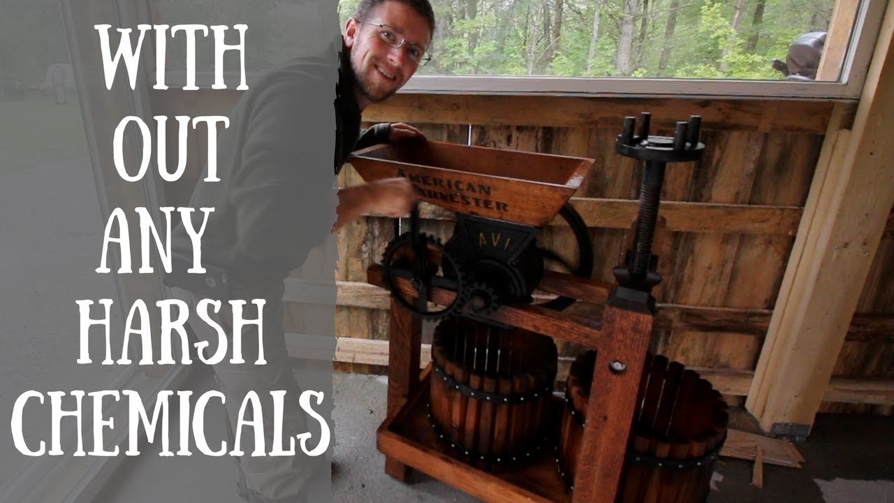 How to Clean An Apple Cider Press w/out Harsh Chemicals