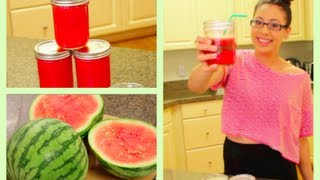 How To Make Watermelon Juice!